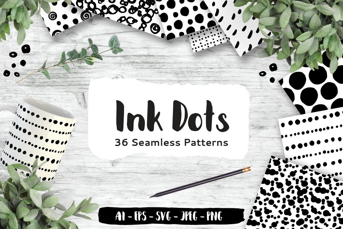 Dots Seamless Patterns example image 1