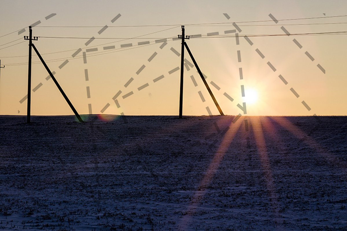 Winter landscape during sunset example image 1