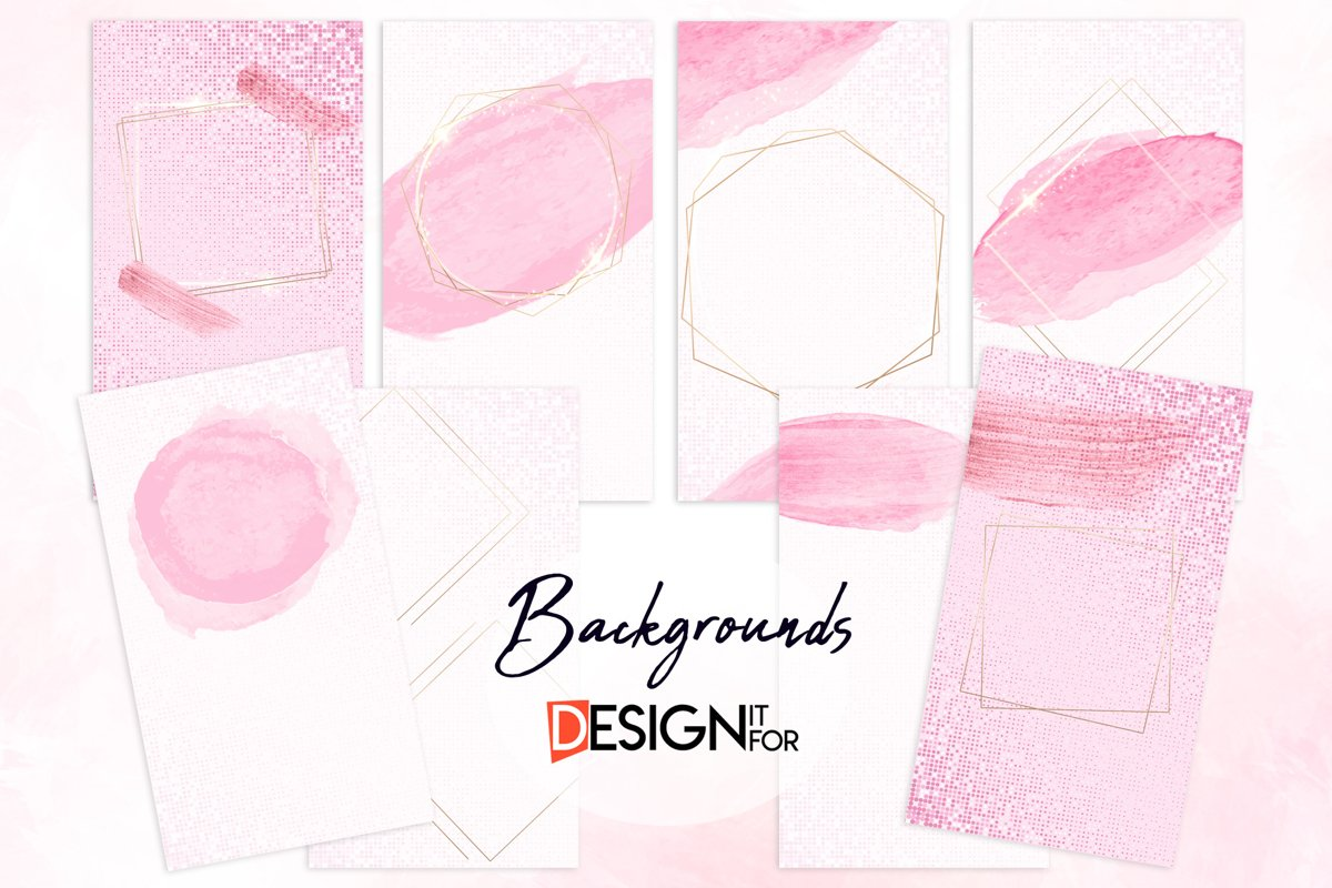 Instagram Story Backgrounds, Pink Gold example image 1