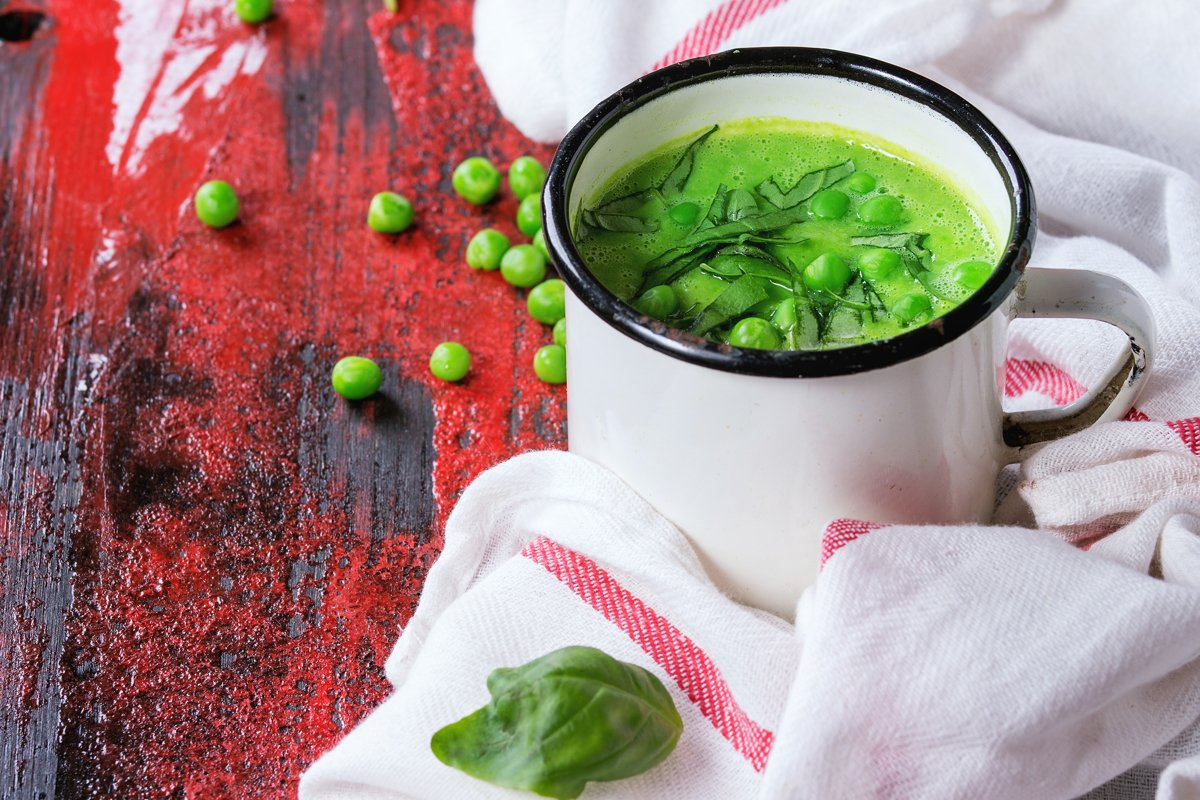 Pea cream soup example image 1