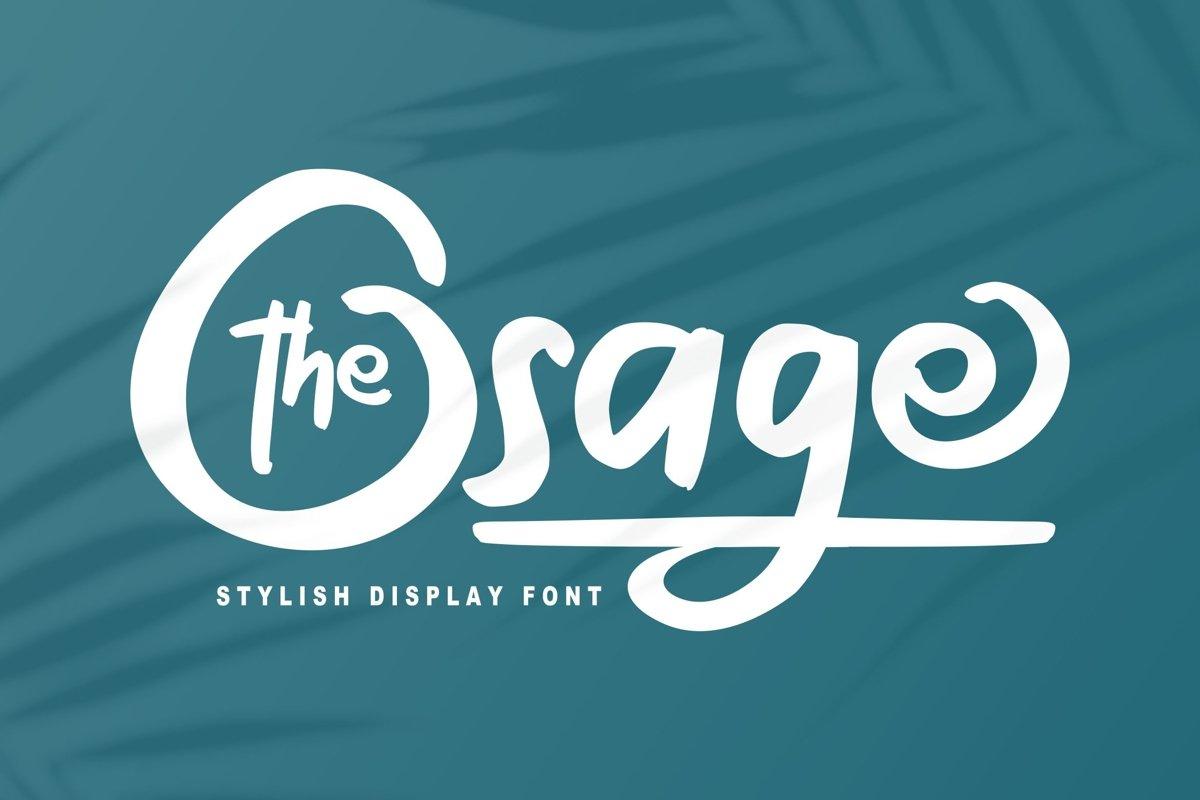 The Osage   Stylish Display Font example image 1