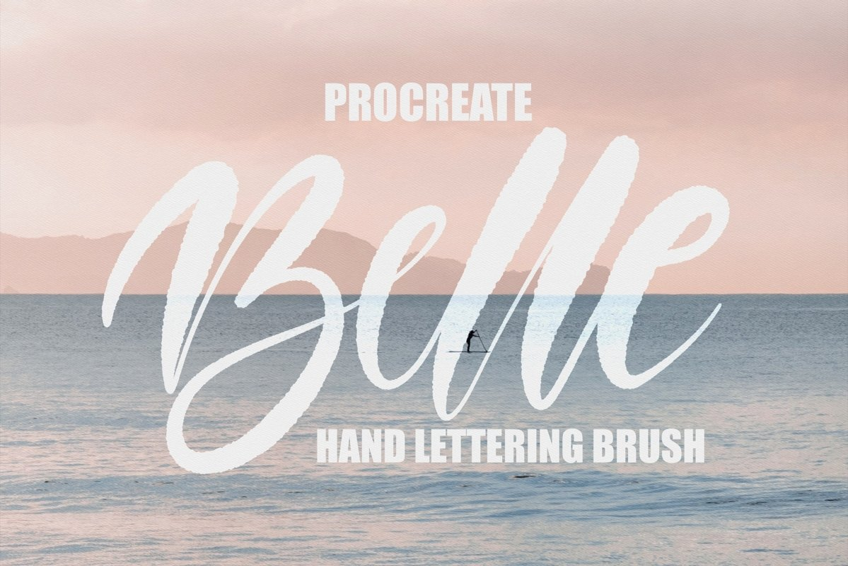 Lettering brush for procreate example image 1