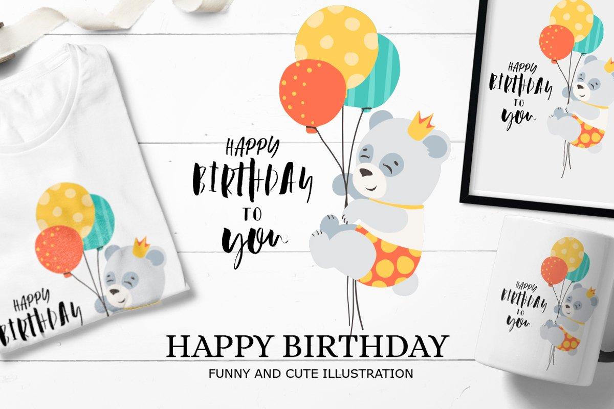 Happy birthday / SVG illustration example image 1