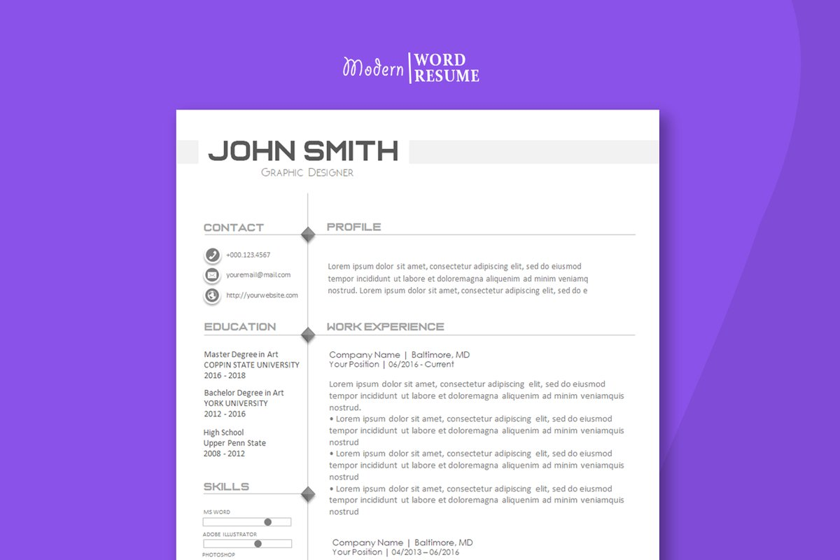 one page resume template cover letter reference page icons  579156