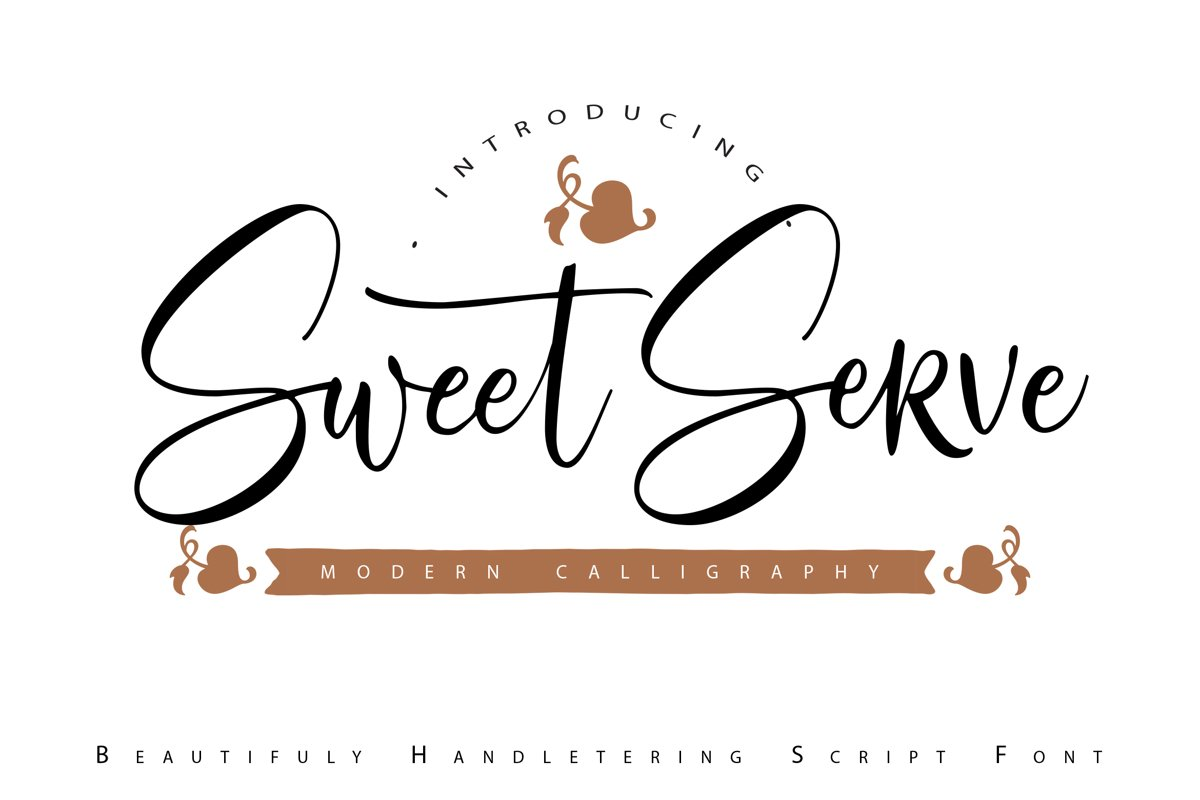 SweetServe   Modern Calligraphy Script Font example image 1