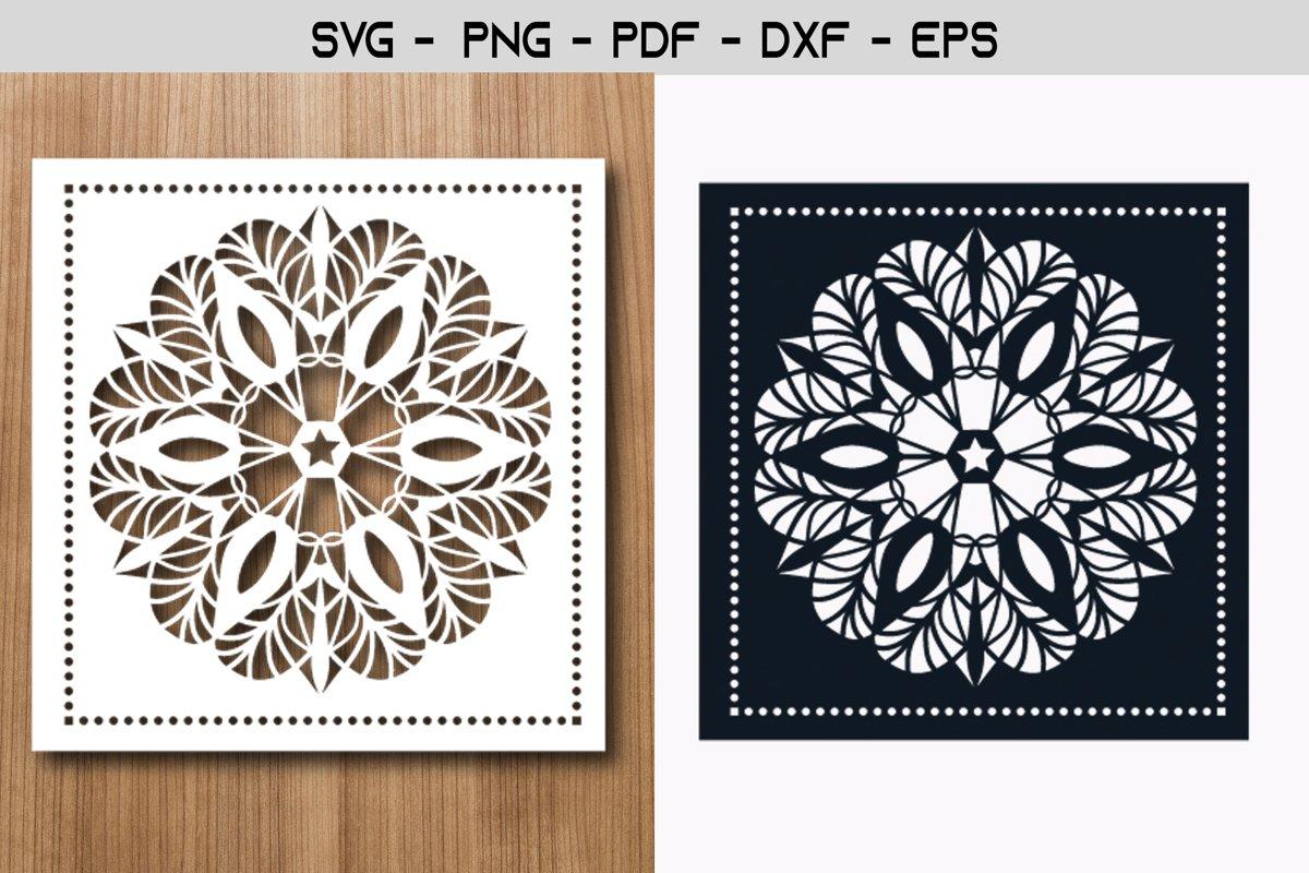 Mandala Stencil Paper Template Design example image 1