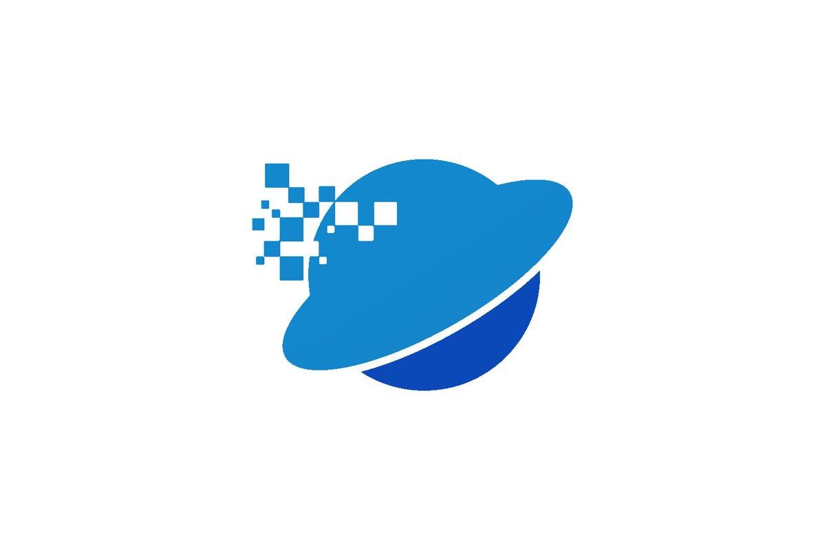 Digital World Logo Isolated example image 1