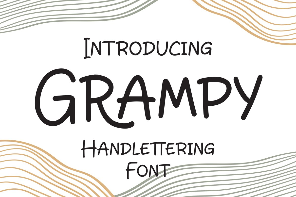 Grampy - Handlettering Font example image 1