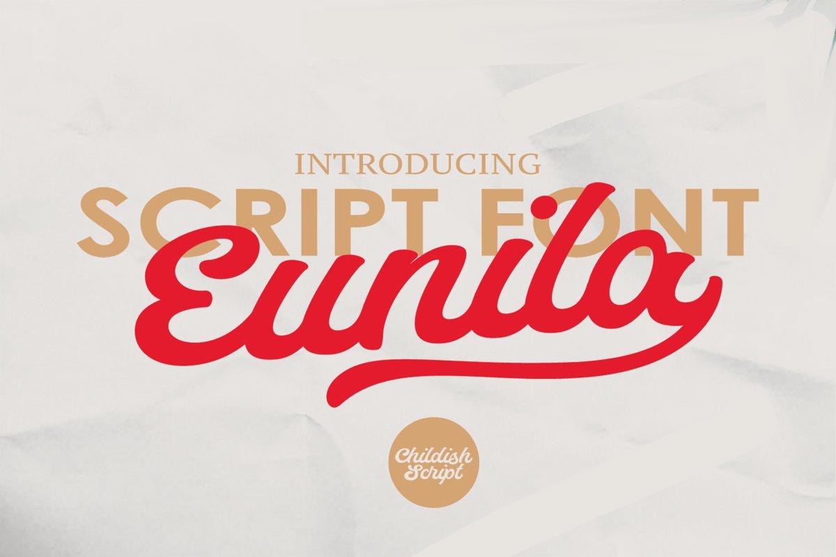 Eunila Script example image 1
