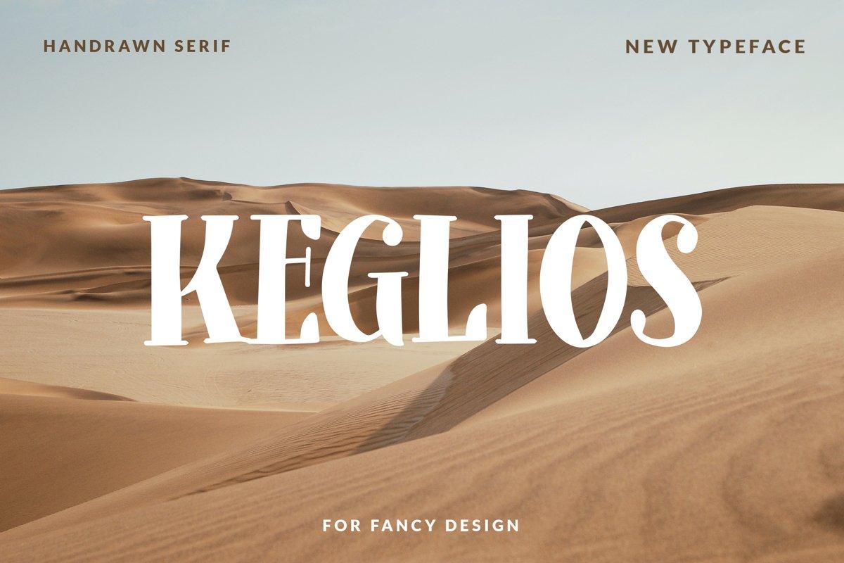 Keglios - Handdrawn Serif Fonts example image 1