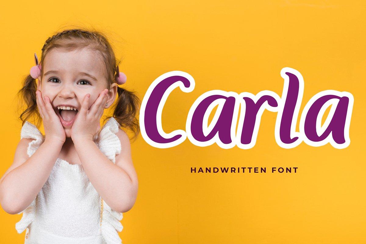 Carla Playful Handwritten Font example image 1