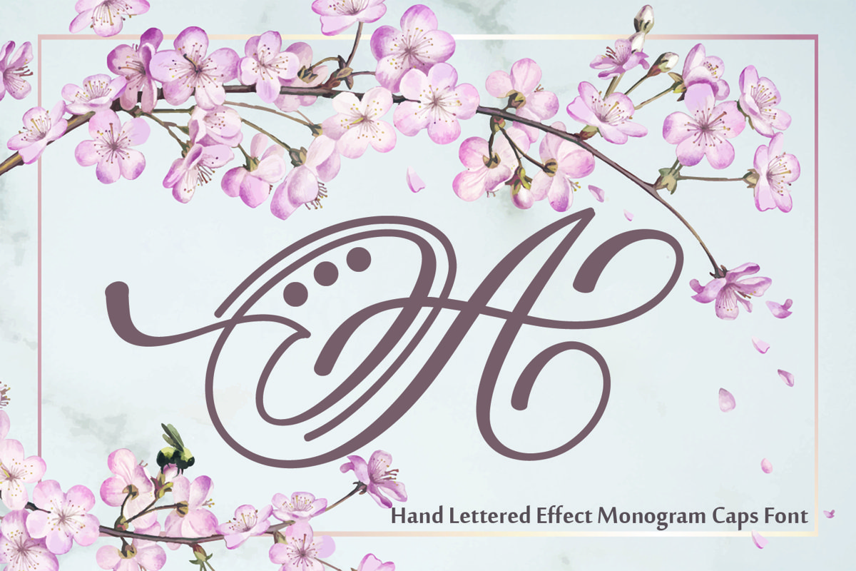 Hand Lettered Effect Monogram example image 1