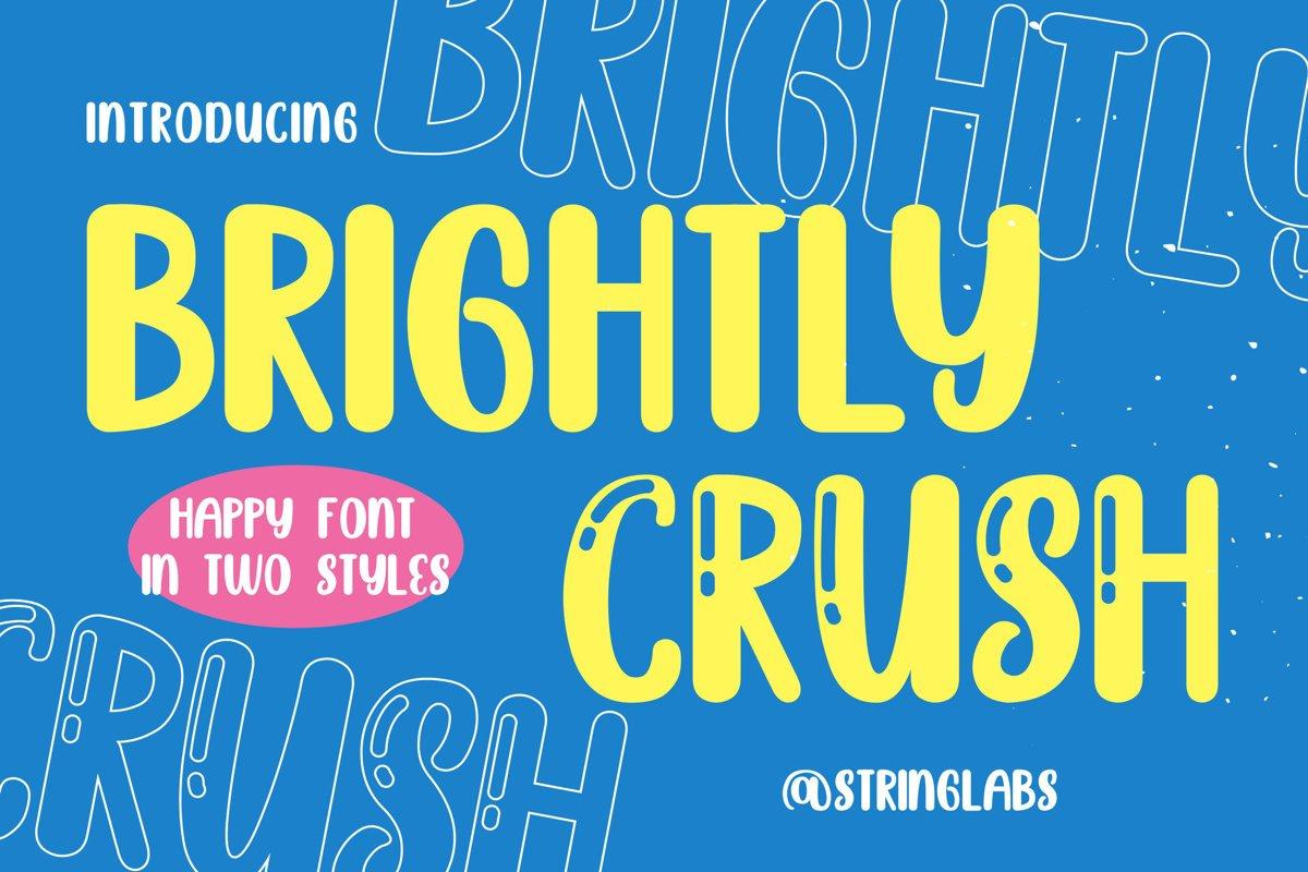 Brightly Crush - Playful Typeface example image 1