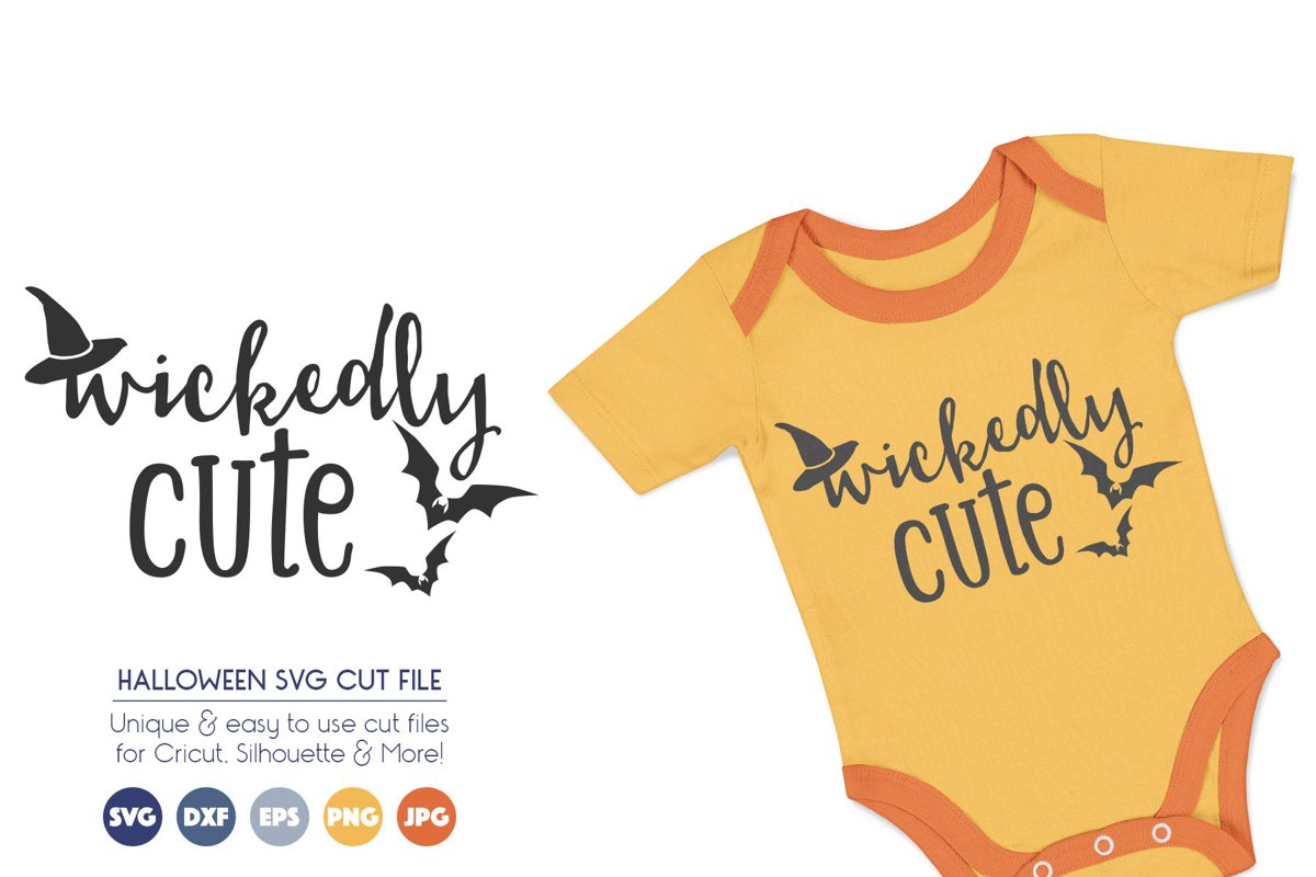 Halloween SVG Cutting Files - Wickedly Cute example image 1
