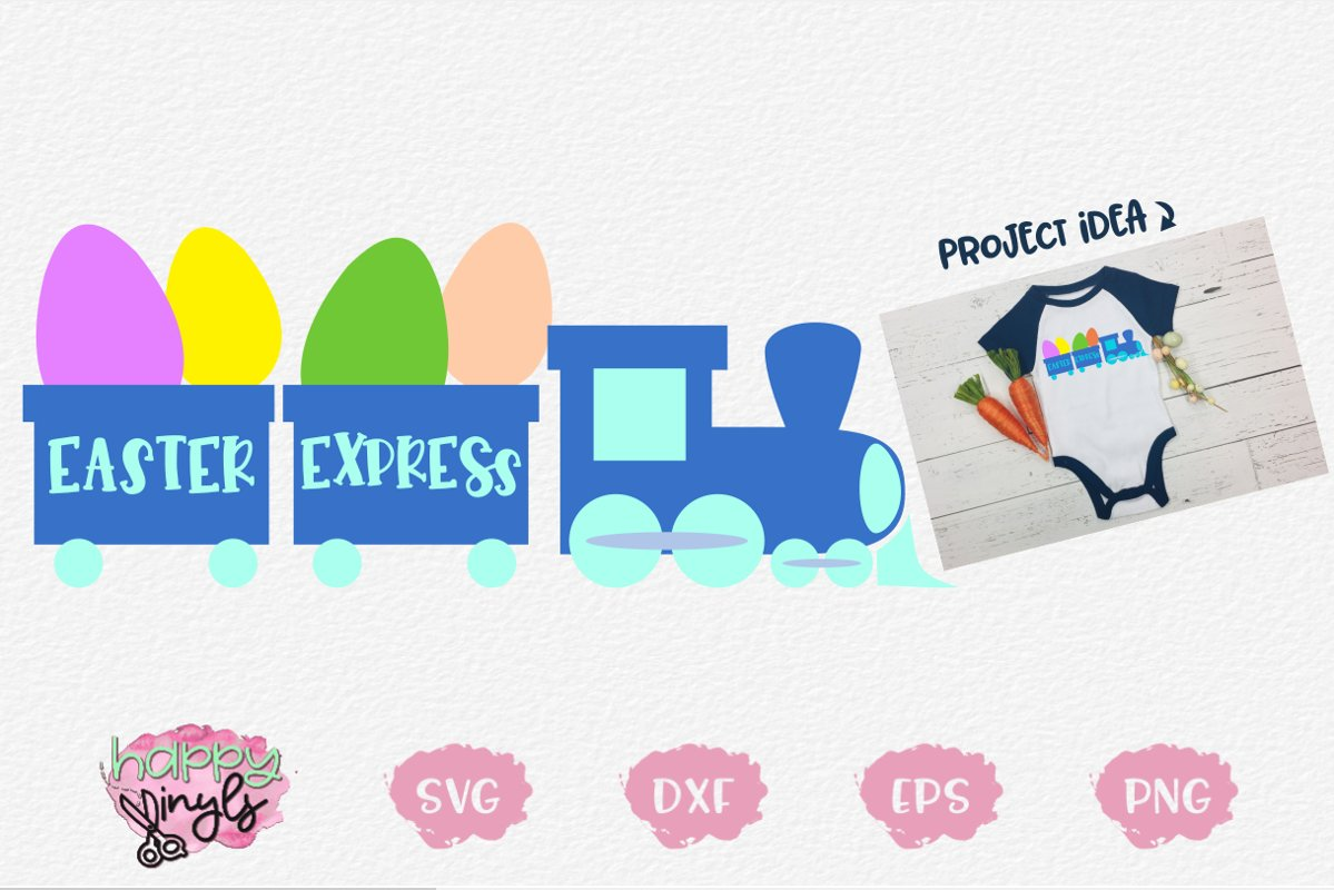 Easter Express Train - An Easter SVG Design example image 1