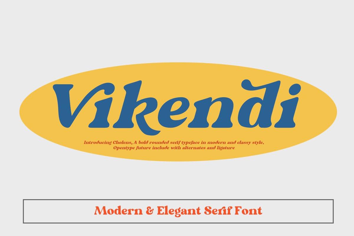 Vikendi Elegant Serif Font example image 1
