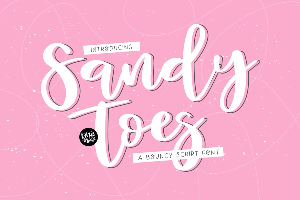 SANDY TOES a Bouncy Script Font example image 1