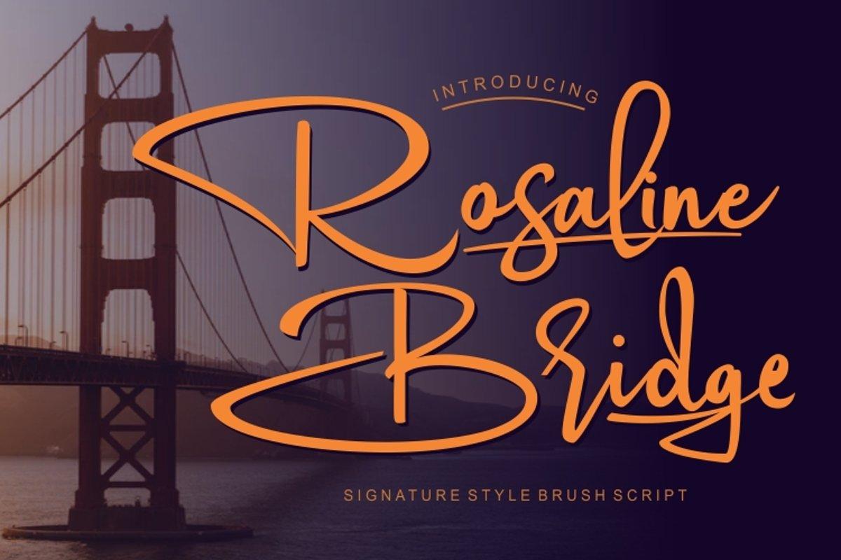 Rosaline Bridge Signature Style font example image 1