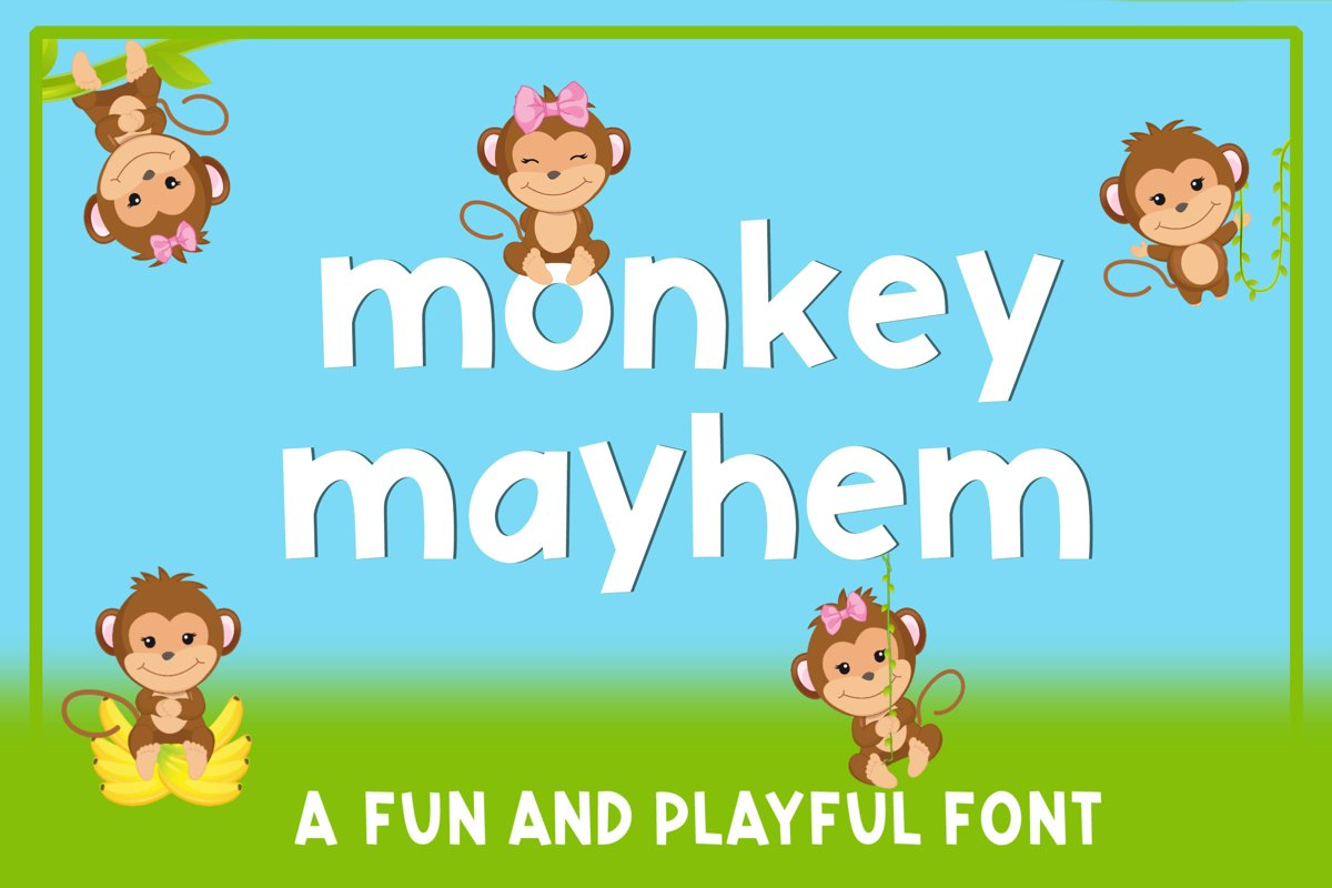Monkey Mayhem - A fun and playful font example image 1