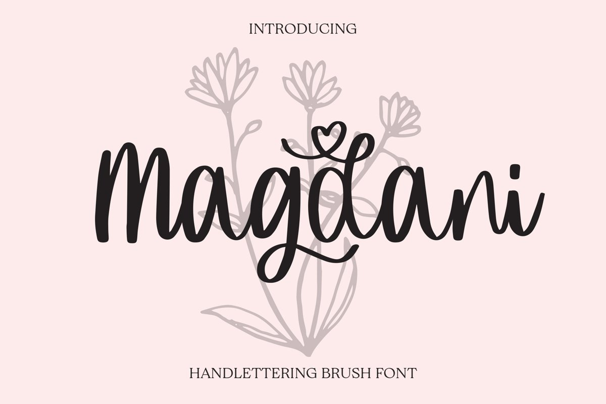 Magdani - Handlettring Brush Font example image 1