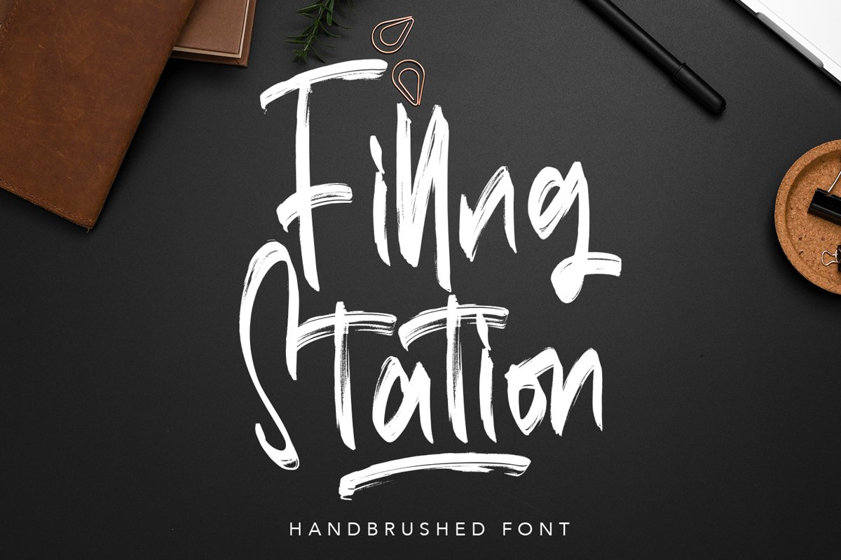 Filling Station - Brush Script Fonts example image 1