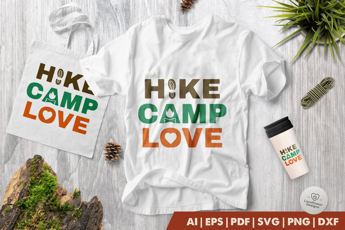 Camping SVG | Hiking SVG | Hike Camp Love SVG | Camp SVG example image 1