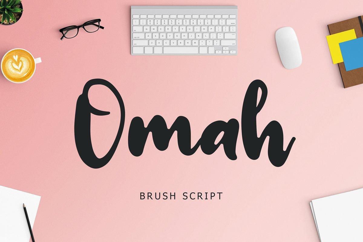 Omah Brush Script Font example image 1