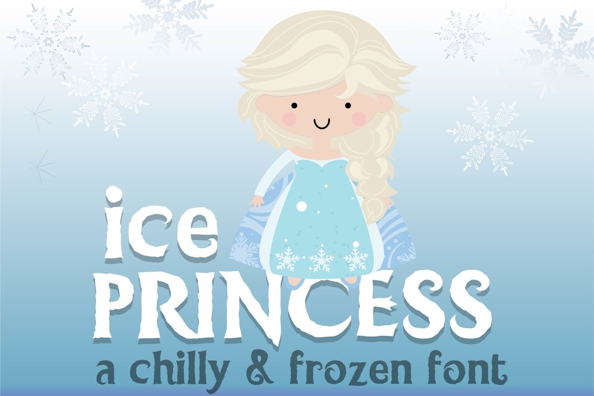 LD Ice Princess Font Duo example image 1