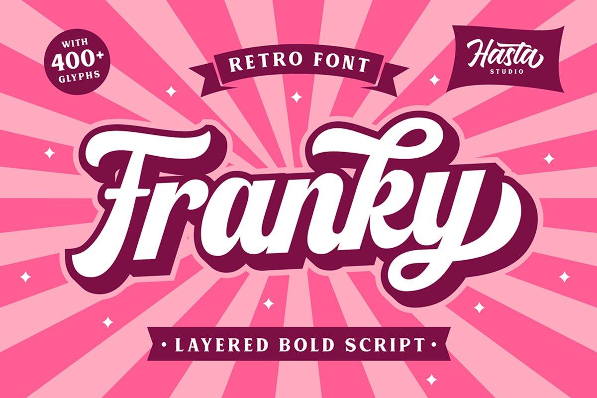 Franky - Retro Font example image 1