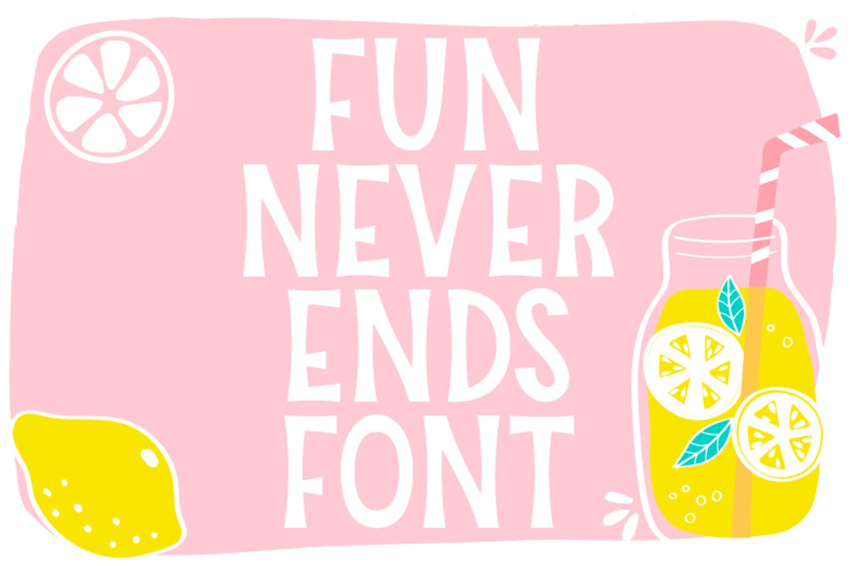 Fun Never Ends Font example image 1