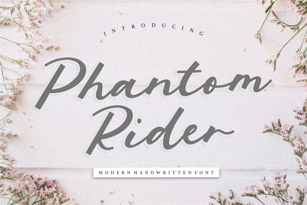 Phantom Rider Modern Handwritten Font example image 1