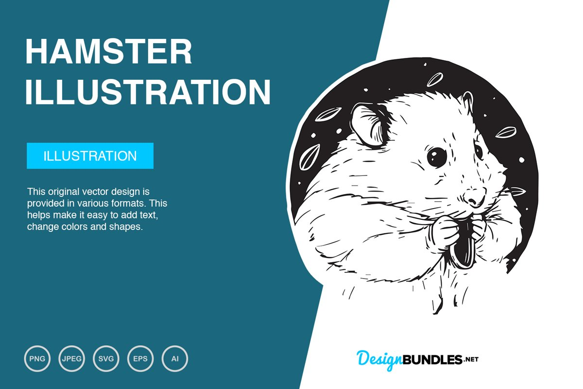 Hamster Vector Illustration example image 1