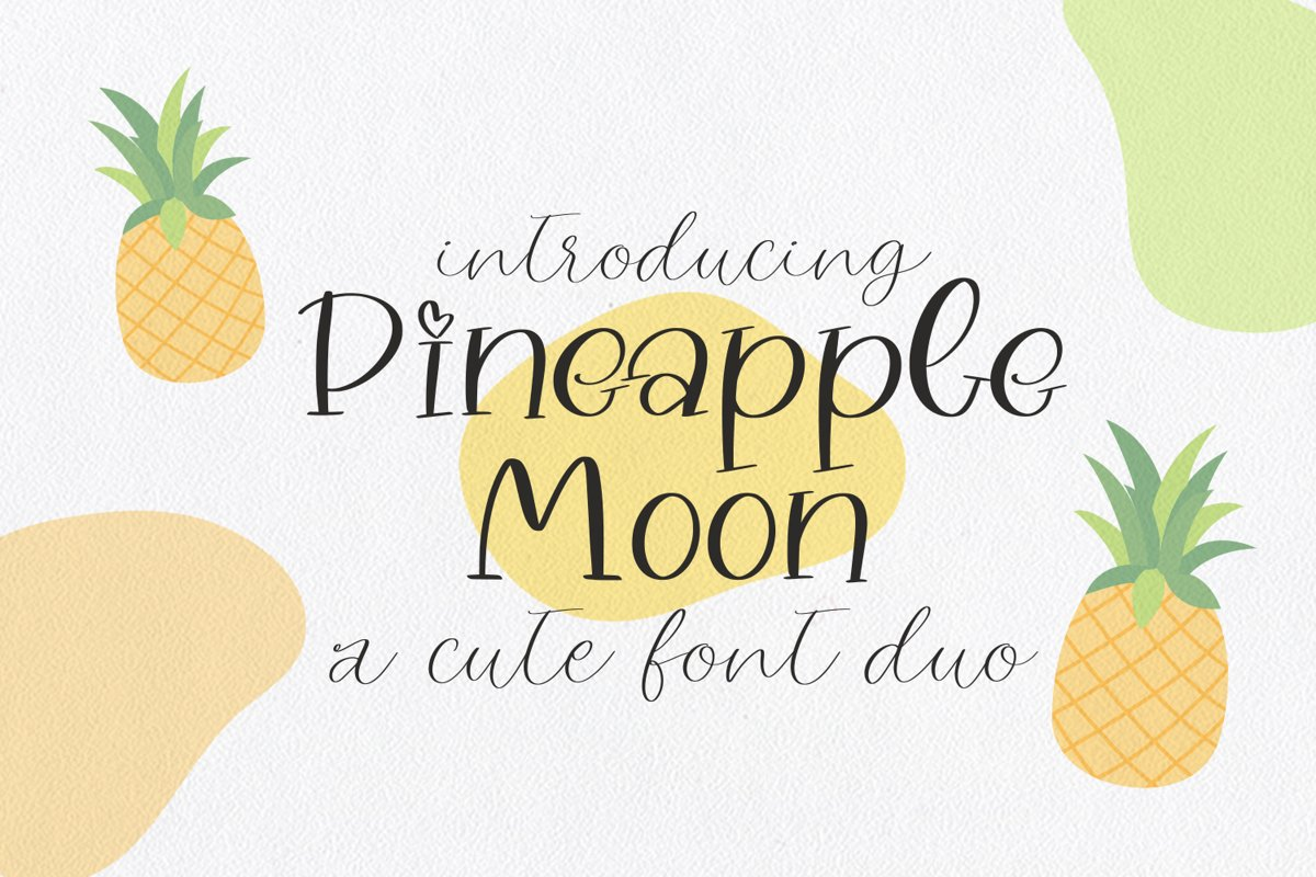 Pineapple Moon Font Duo example image 1