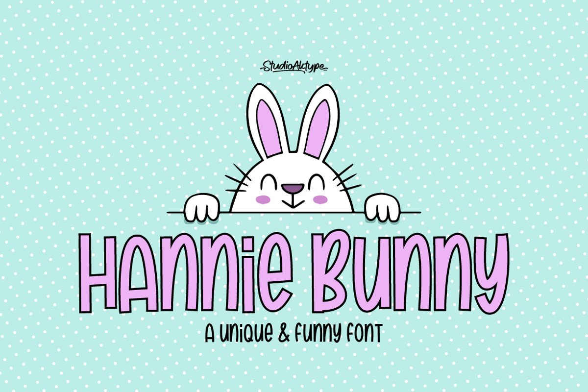 Hannie Bunny | Funny Font example image 1