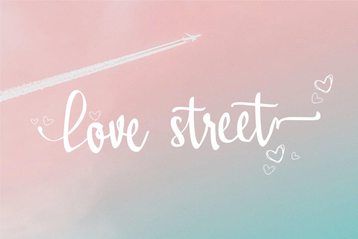 Lovestreet modern calligraphy font example image 1