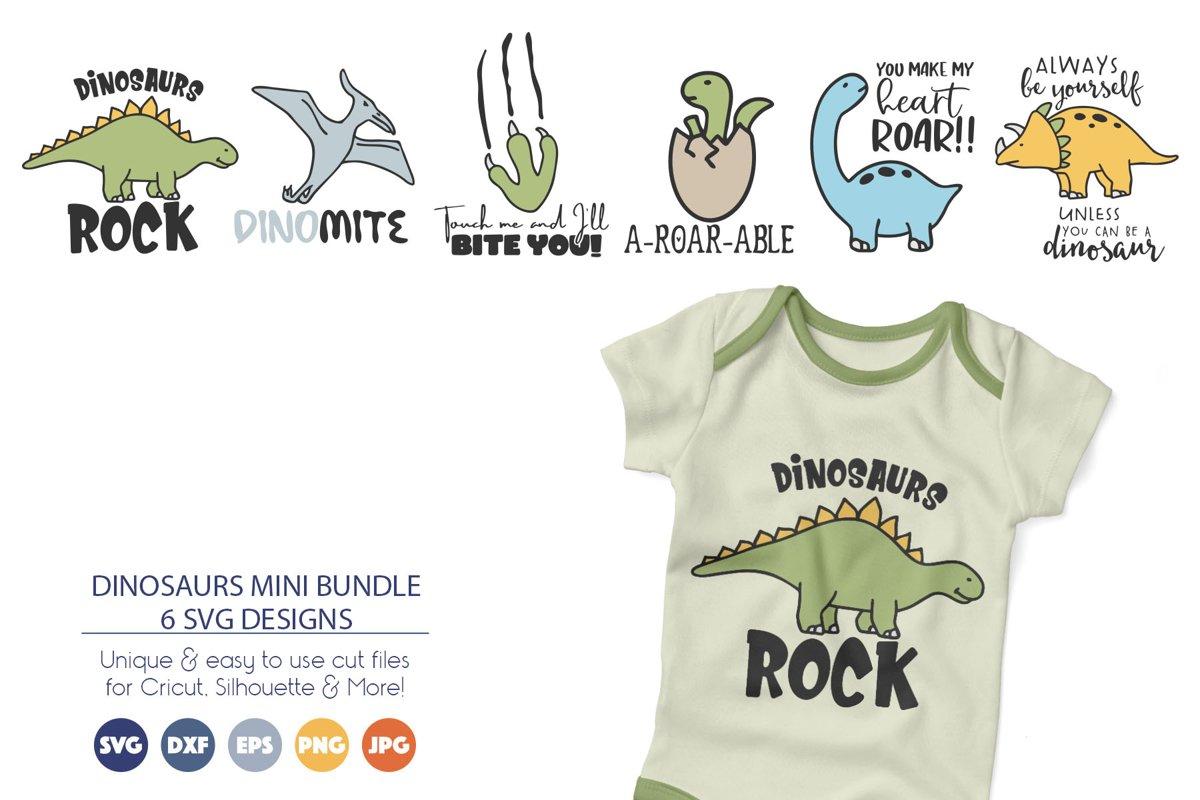 Dinosaurs SVG Bundle example image 1