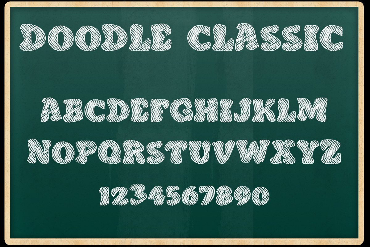 Doodle Classic - Sketch Font example image 1