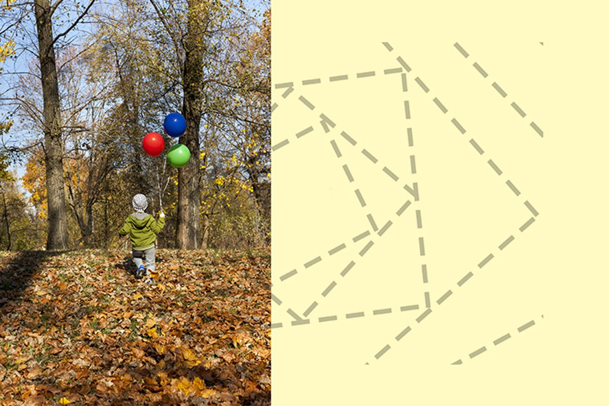 child with balloons example image 1