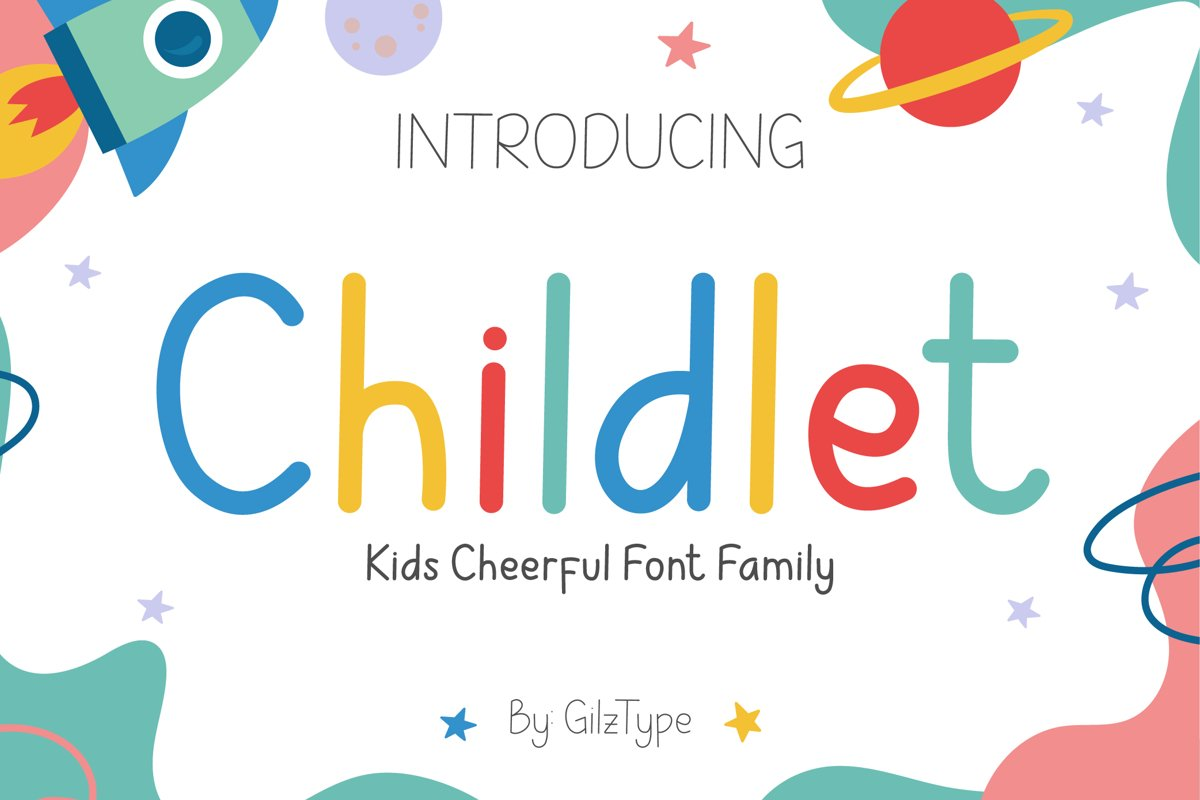 Childlet - Kids Cheerful Font Family example image 1