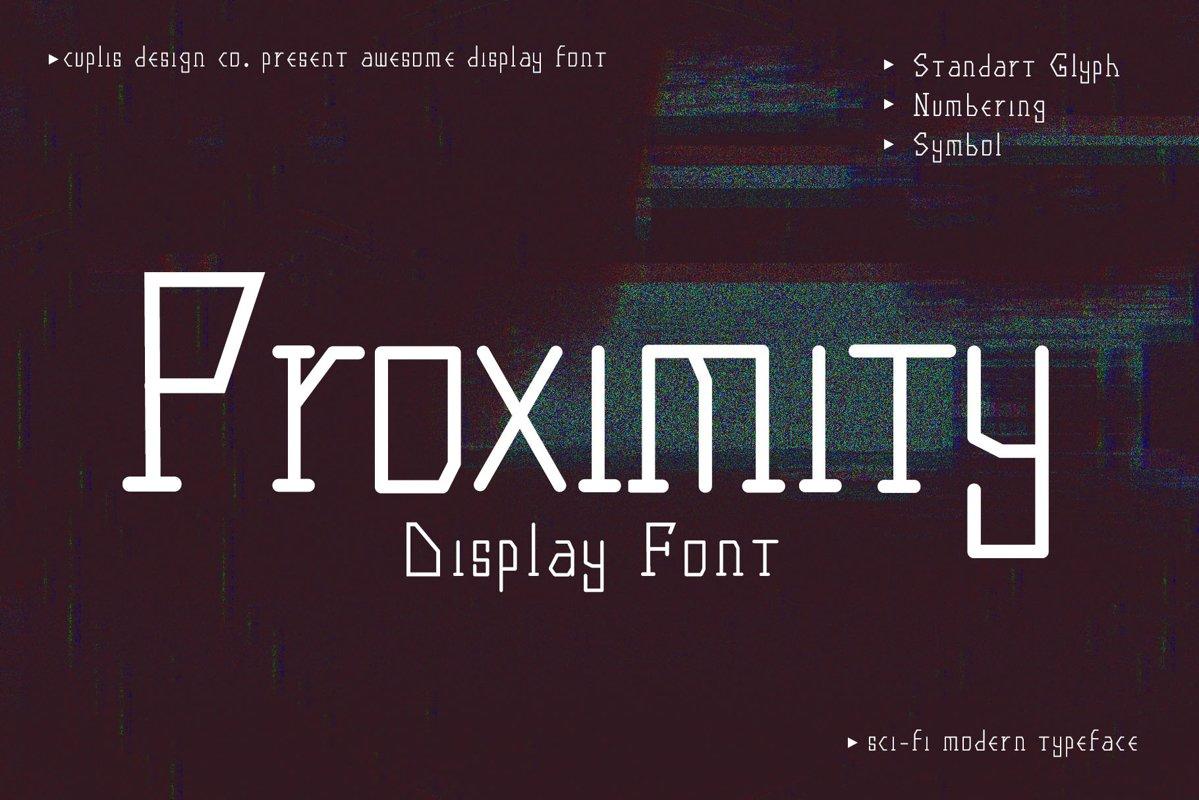 Proximity Sci-Fi Display Typeface example image 1