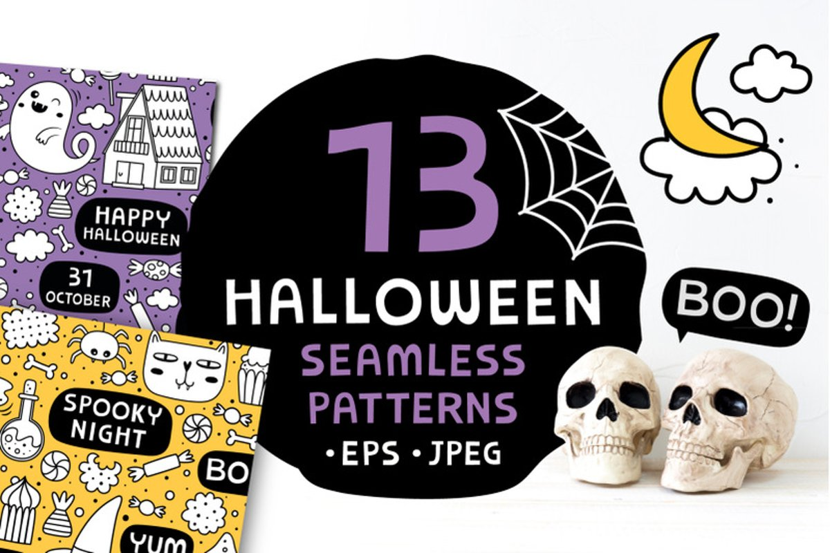 13 Halloween patterns example image 1