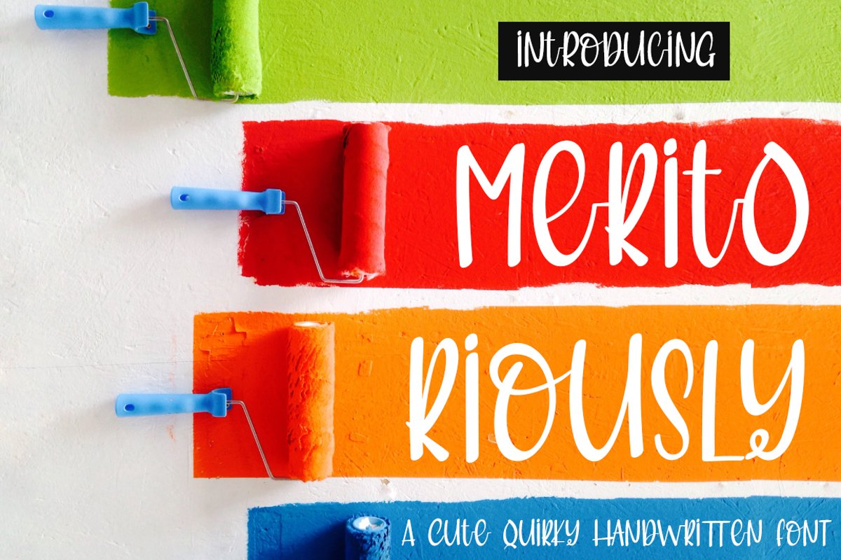 Meritoriously a Cute Quirky Handwritten Font example image 1