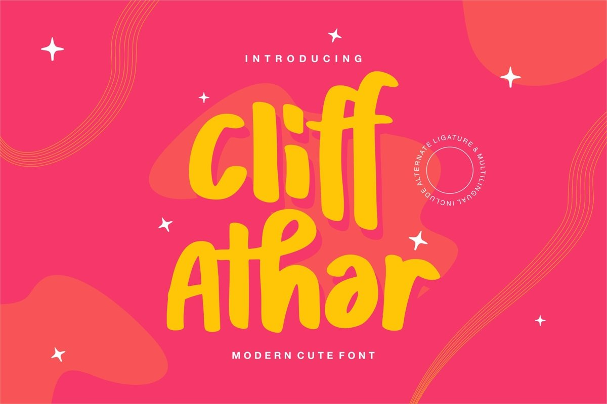 Cliff Athar - Modern Cute Font example image 1