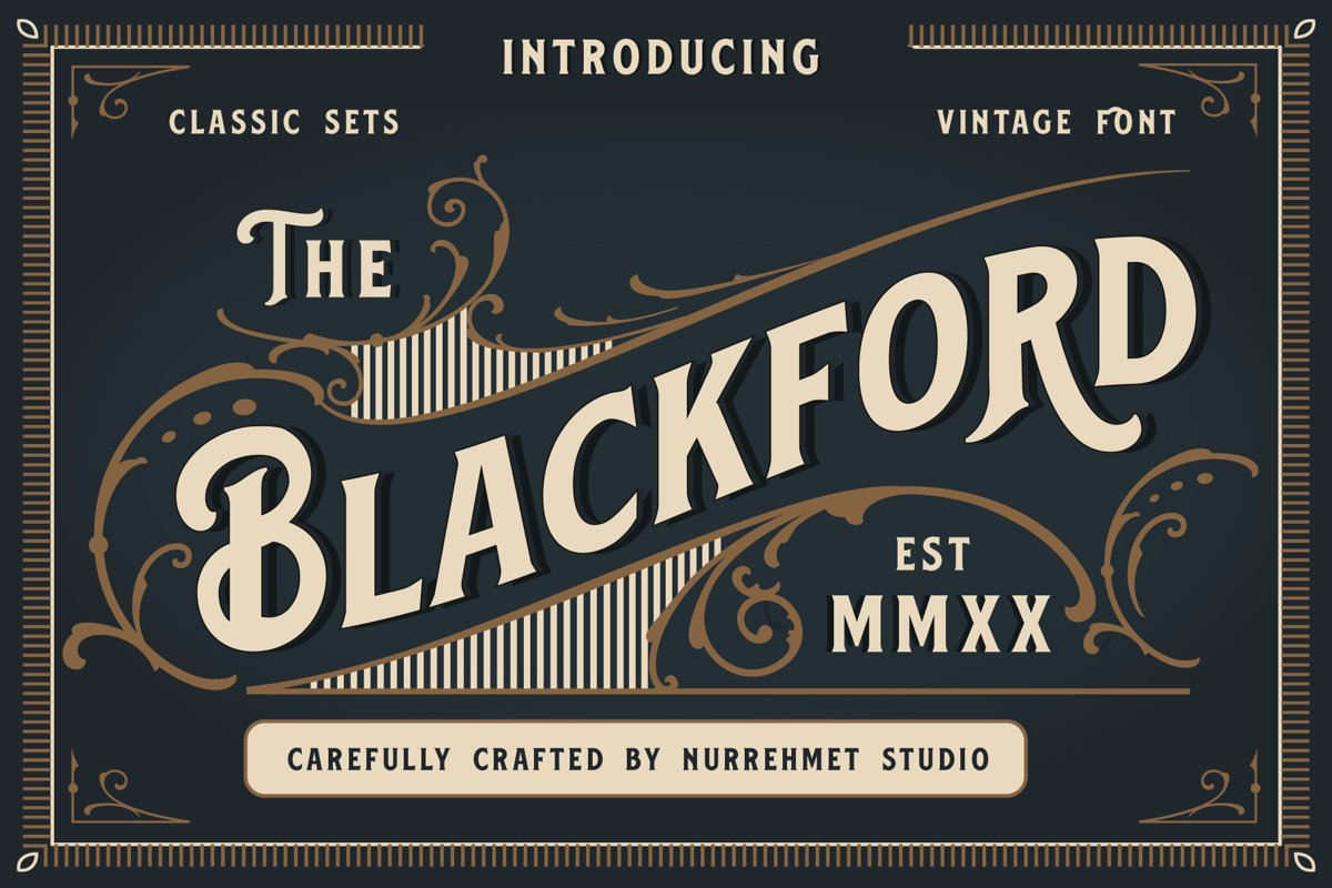 Blackford - Vintage Classic Font example image 1