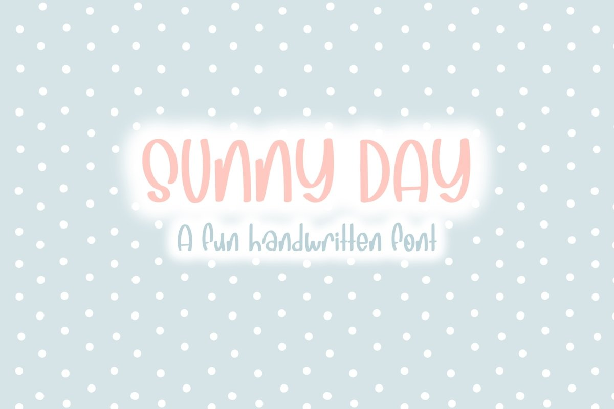 Sunny Days| Quirky Hand Written Font example image 1