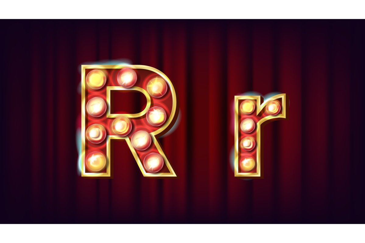 R Letter Vector. Capital example image 1