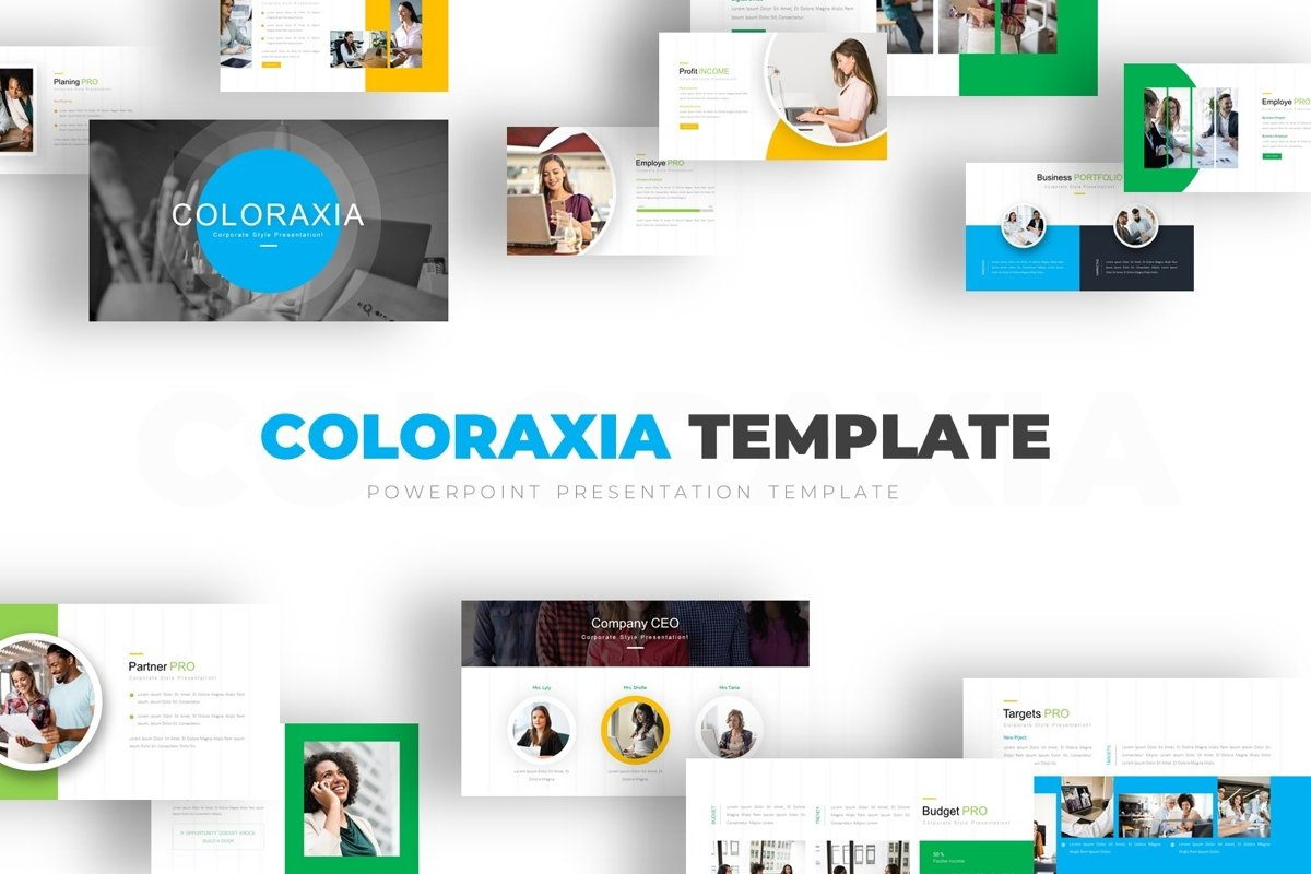 Coloraxia Template - Powerpoint example image 1