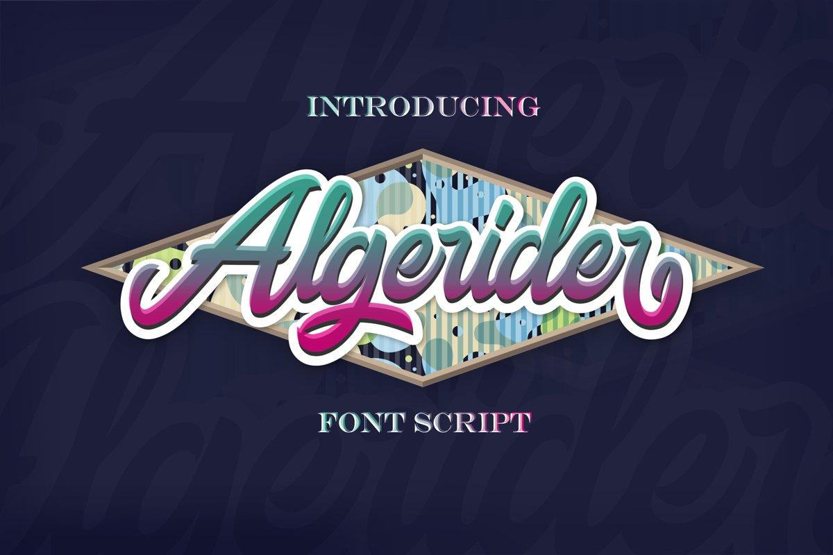 Algerider Script example image 1