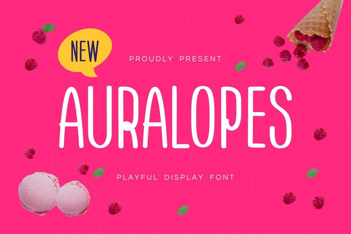 Aura Lopes - Playful Display Font example image 1