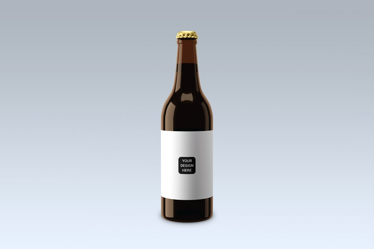 Beer bottle, mock up. example image 1